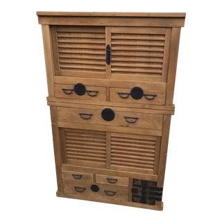 19th Century Janpanese Tansu Cabinet For Sale