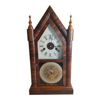 Victorian Gothic Revival Cathedral Steeple Clock by E. N. Welch For Sale