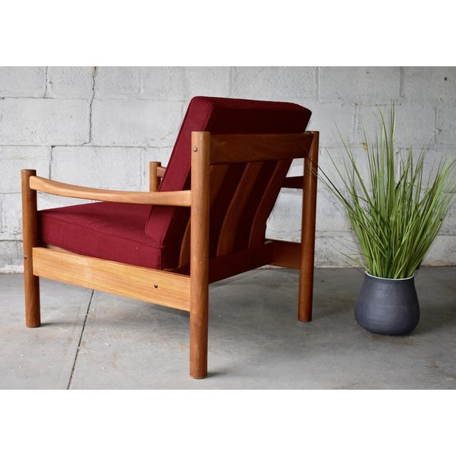Danish Modern Mid Century Modern Teak Lounge Chair / Armchair For Sale - Image 3 of 9