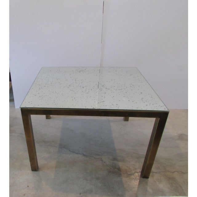 Antiqued Glass Mirror Coffee Table