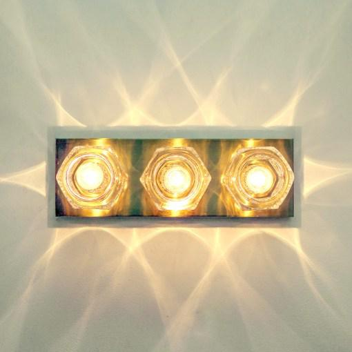 Gold Peill & Putzler Cubic Wall Lights - A Pair For Sale - Image 8 of 10