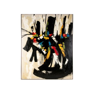 Large and Striking Mid Century Abstract Signed Mau For Sale