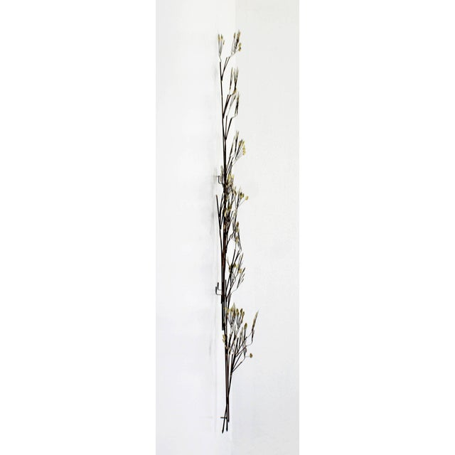 Mid-Century Modern Brass Leaf Branch Tree Wall Art Sculpture Signed C Jere 1970s For Sale In Detroit - Image 6 of 7