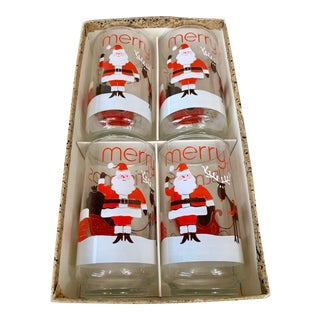 Vintage Libbey Christmas Glasses-Set of 4 For Sale