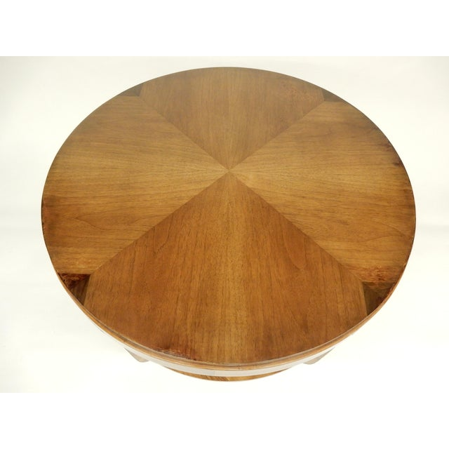 Art Deco Round Walnut Side Table For Sale - Image 4 of 10