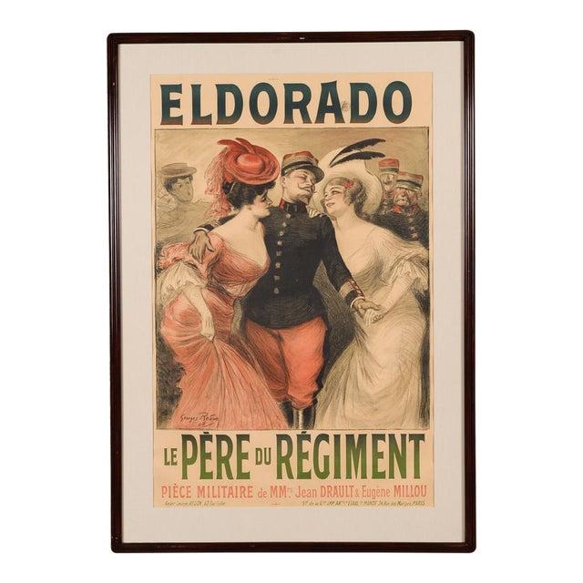 Eldorado Original 1905 Vintage French Poster- by Georges Redon -Framed - Image 1 of 10