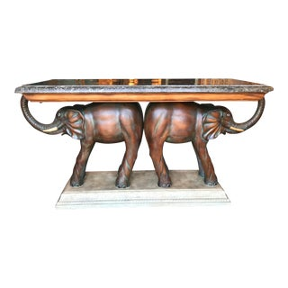 Double Elephant Console Table For Sale