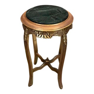 Louis XV Circular End Table, Antique Vintage Furniture Reproduction, French Furniture For Sale