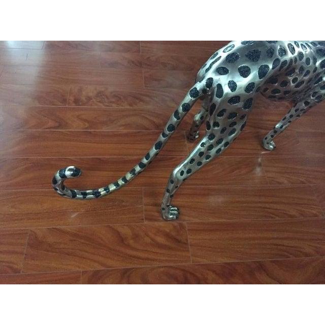 1970s Cheetah Metal Sculpture For Sale - Image 5 of 9