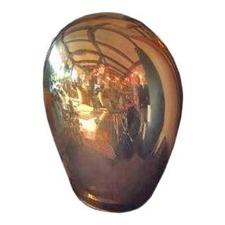 Contemporary Italian Salviati Murano Gold Glass Lamp For Sale