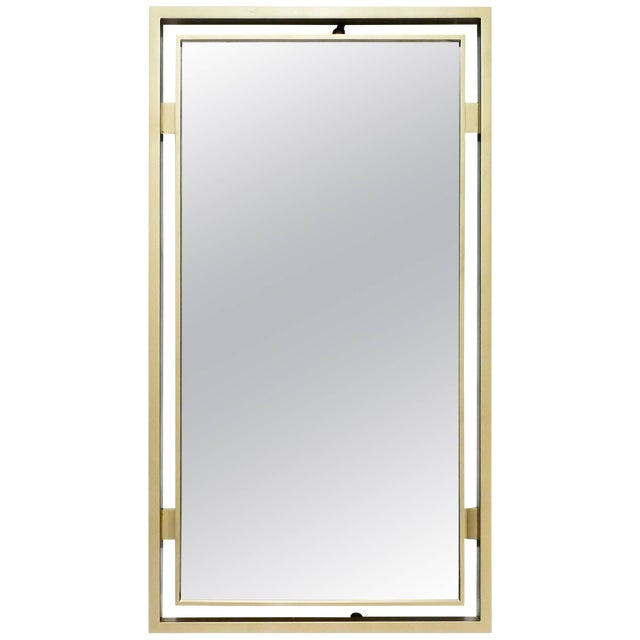 Brass Mirror by Guy Lefevre for Maison Jansen, 1970s For Sale