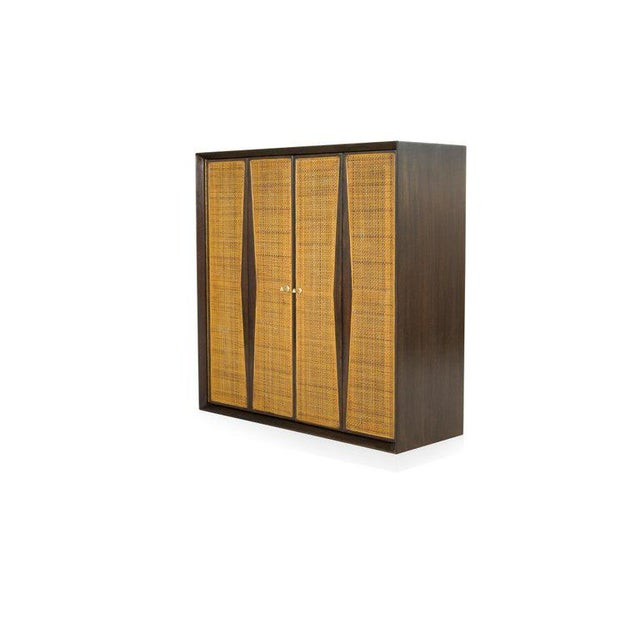 Metal 1950s Floating Liquor Cabinet by Vladimir Kagan for Grosfeld House For Sale - Image 7 of 13
