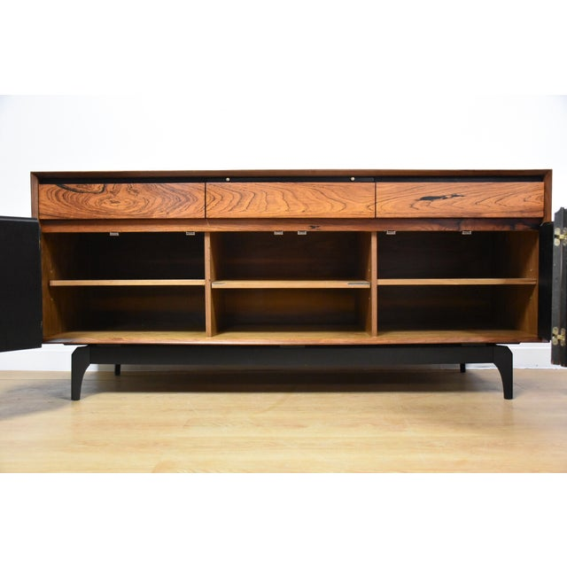 Mid-Century Rosewood and Walnut Credenza - Image 3 of 11
