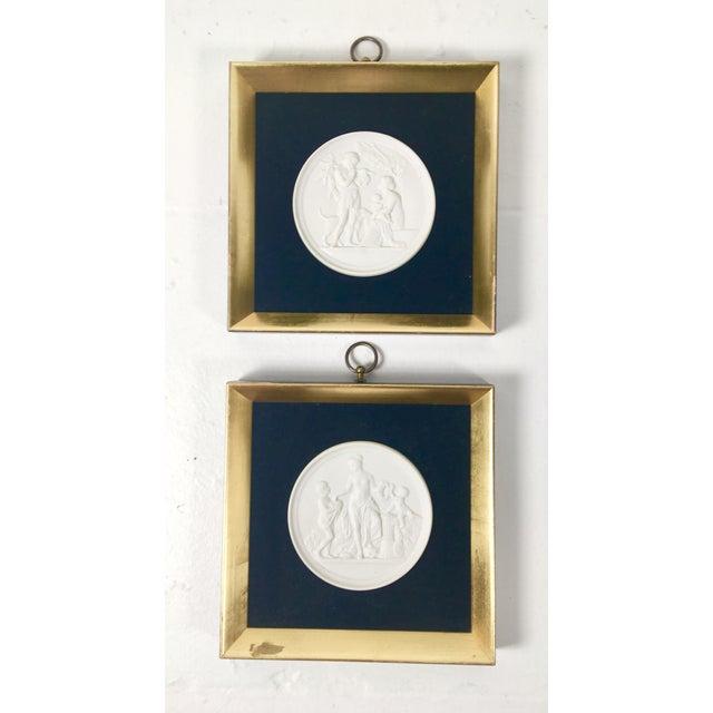Gold Royal Copenhagen Plaques – a Pair For Sale - Image 8 of 8