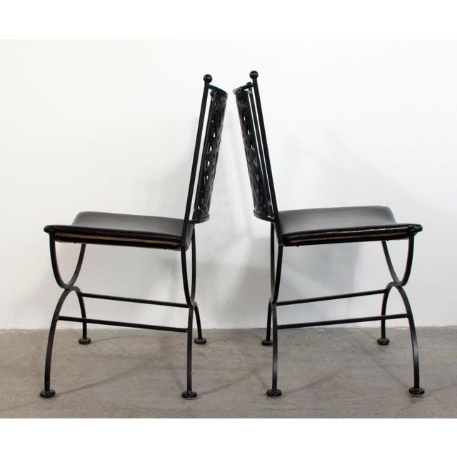 Metal 1950s Mid Century Modern Arthur Umanoff Mayan Sun Cast Iron Chairs - a Pair For Sale - Image 7 of 13