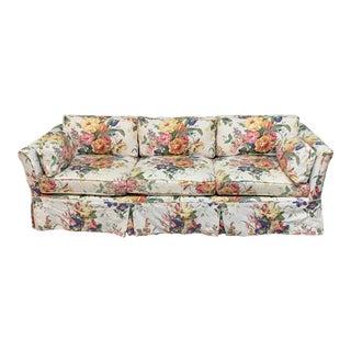 Vintage Henredon Ralph Lauren Floral Print Sofa For Sale