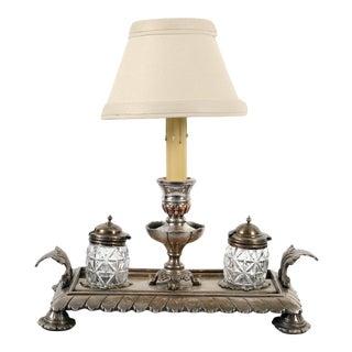 Antique English Novelty Desk Lamp For Sale