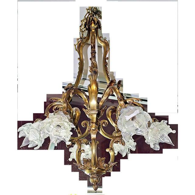 French Bronze-Dore' Art-Nouveau Fixture For Sale - Image 7 of 9