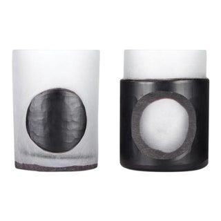 Tom Dixon Carved Stem Vase 2 Black - a Pair For Sale