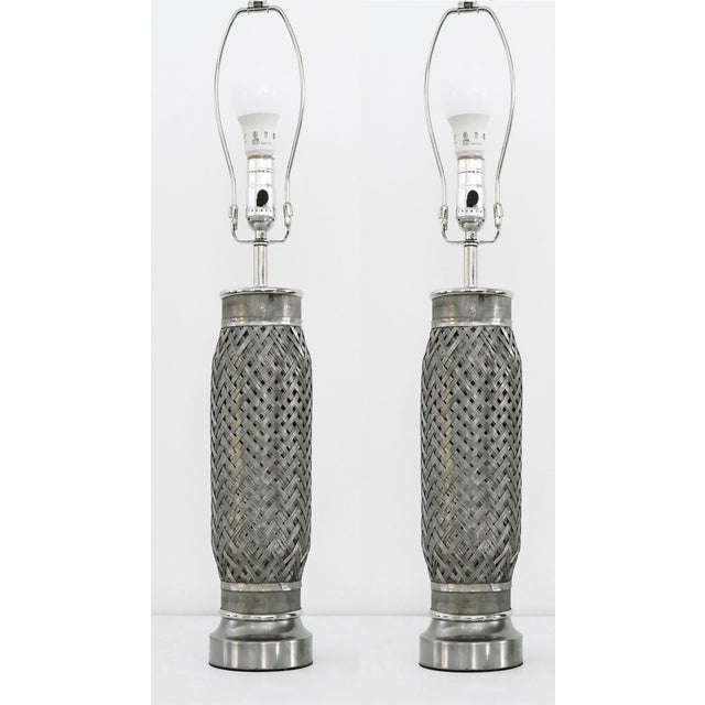 Industrial Rocket Engine Components Lamps - a Pair For Sale - Image 3 of 5