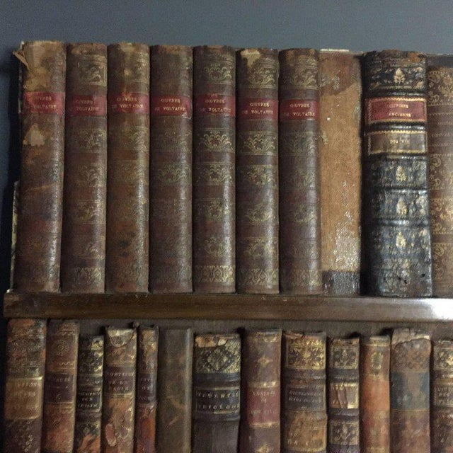 Late 19th Century Panels of 18th Century French Bookbinds For Sale In New York - Image 6 of 11