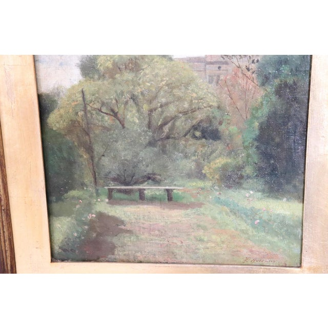 19th Century Important Italian Artist Oil Painting on Canvas Landscape For Sale - Image 4 of 8