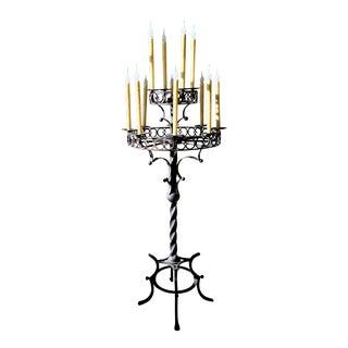Laura Lee Designs Inc Cordoba 12-Light Wrought Iron Candelabra Floor Lamp