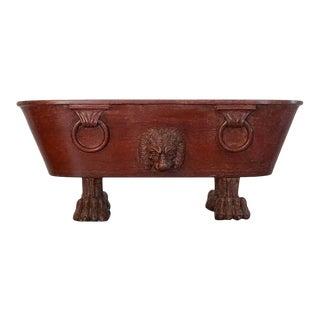 1810 Italian Grand Tour Marble Model of Roman Labrum or Bath For Sale