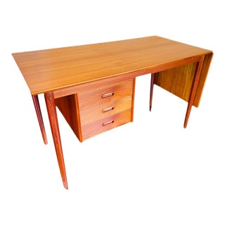 1960s Arne Vodder Danish Modern Expandable Teak Writing Desk For Sale