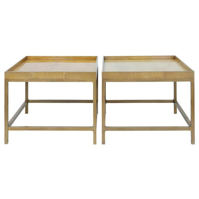 Wood 1960s Mid Century Baker Furniture Wood Side Tables - a Pair For Sale - Image 7 of 7