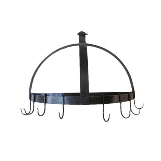 Hand-Forged Iron Pot Rack For Sale