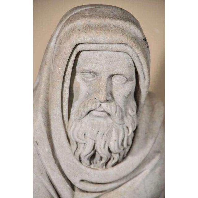 Italian Carrara Marble Statue For Sale In Houston - Image 6 of 9