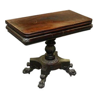 Philadelphia Federal Card Table Attrubuted to Anthony Quervelle For Sale