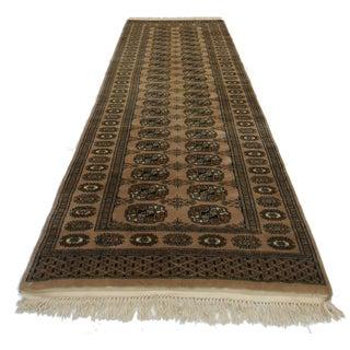 RugsinDallas Vintage Bokhara Wool Runner - 2′8″ × 8′2″ For Sale
