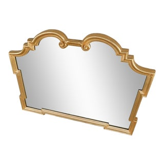 "La Barge Italian Gilt Gold Wood Frame Mirror 42""w X 32""h For Sale"