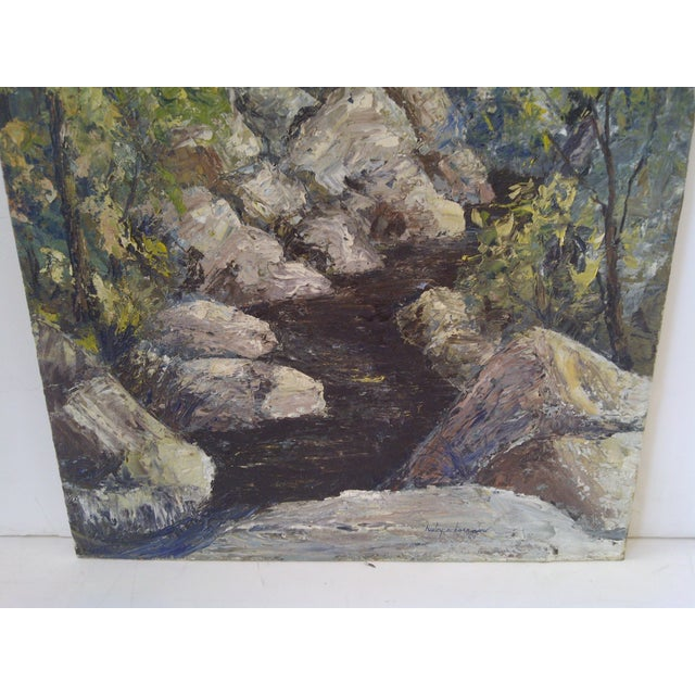 """""""The Brook"""" Painting by Ruby Schoernam For Sale - Image 4 of 7"""