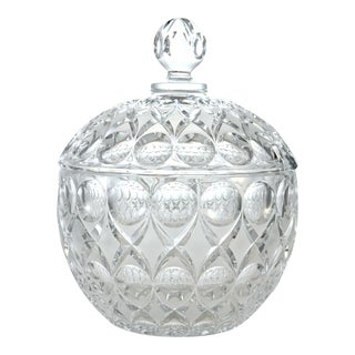 Crystal Punch Lidded Bowl For Sale