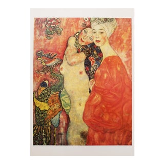 "1994 Gustav Klimt ""The Girlfriends"", First German Edition Large Poster For Sale"