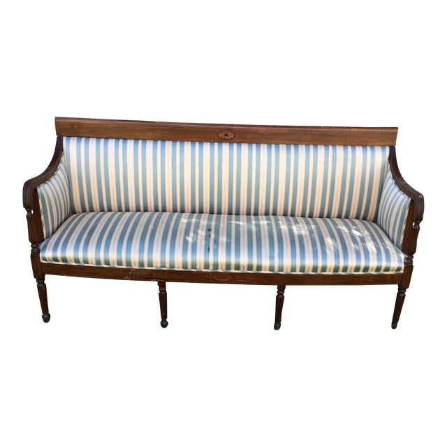 Traditional Antique Sheraton Style Loveseat - Image 1 of 11