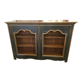20th Century Traditional PaintedCredenza with Mesh Doors