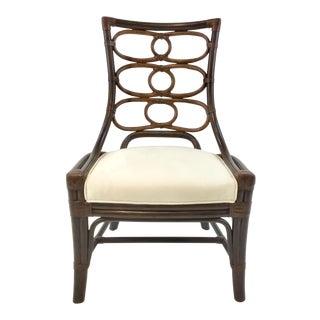 Modern Palecek Rattan Chair For Sale