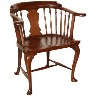 Rare Mahogany Captain's Chair For Sale