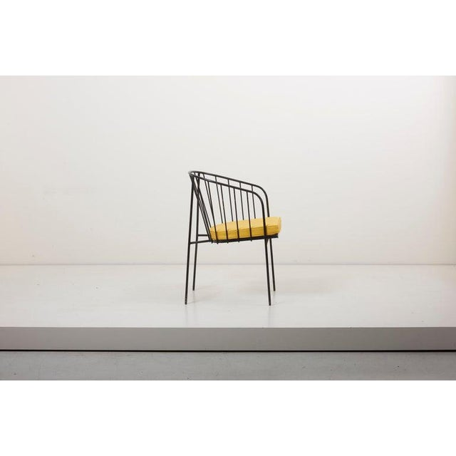 Set of Four Iron Rod Outdoor Chairs by George Nelson for Arbuck, 1950s For Sale - Image 10 of 13