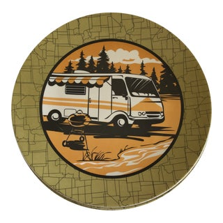 Trailer Park Camping Dinner Plates, Set of Eight For Sale