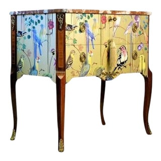 Classic Gustavian Louis XV Style Chest With Christian Lacroix Design For Sale