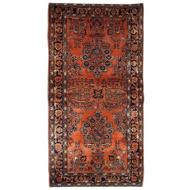 1920s Handmade Antique Persian Sarouk Rug 2.1' X 3.10' For Sale