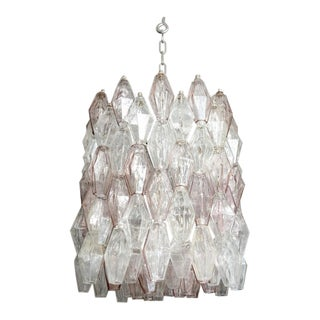 "Pair of Vintage ""Poliedri"" Chandeliers by Carlo Scarpa for Venini For Sale"
