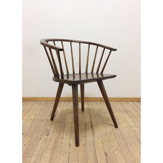 Mid-Century Modern Set of Four Russel Wright Conant Ball Captains Dining or Side Chairs For Sale - Image 3 of 5