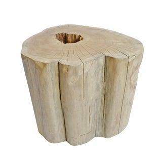 Teak Stump Stool / Side Table For Sale