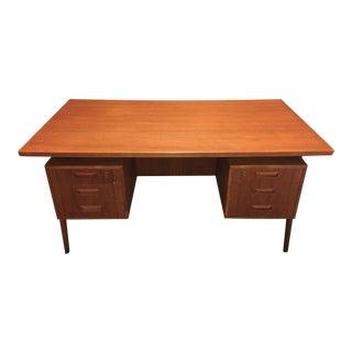 Vintage Danish Floating Desk For Sale